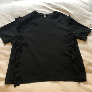 English Factory black ruffle top small